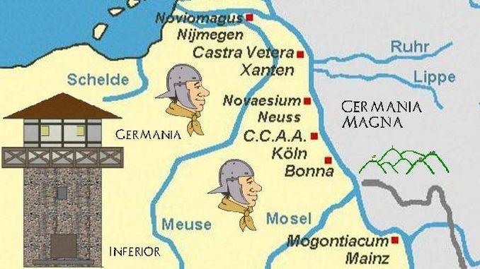 Siebengebirge history, At the Border of the Roman Empire
