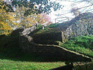 Medieval castle ruin
