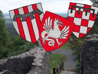 Löwenburg Castle, coats of arms