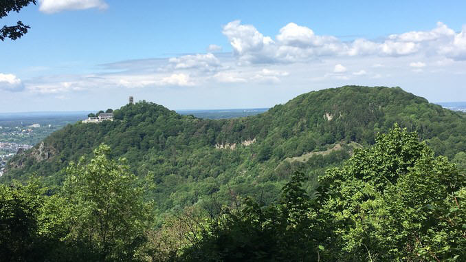 Drachenfels and Wolkenburg from Breiberg