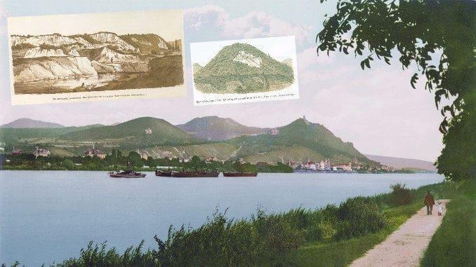 Königswinter around 1900, quarries