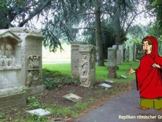 Replica of Roman tombstones, Rheinaue, Bonn