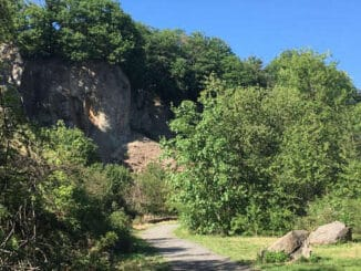 Abandonned quarry on Stenzelberg